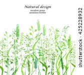 meadow grass background in... | Shutterstock .eps vector #425228932
