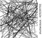 irregular  random chaotic lines.... | Shutterstock .eps vector #425239702