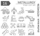 metallurgy isolated icon set.... | Shutterstock .eps vector #425240236