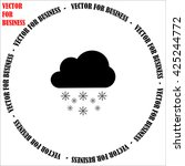 cloud with snowflak icon....