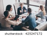 combining their expertise.... | Shutterstock . vector #425247172