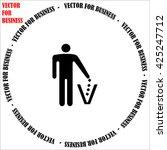 man icon. simple black vector... | Shutterstock .eps vector #425247712