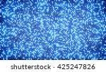 blue glitter dots. computer... | Shutterstock . vector #425247826