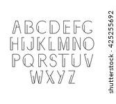 linear alphabet. vector set....   Shutterstock .eps vector #425255692