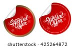 special offer stickers | Shutterstock .eps vector #425264872