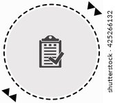 notes icon flat design.... | Shutterstock .eps vector #425266132