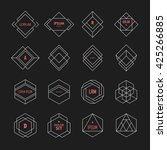 set of geometric signs ... | Shutterstock .eps vector #425266885