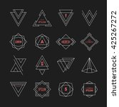 set of geometric signs ... | Shutterstock .eps vector #425267272