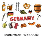 germany travel traditional food ... | Shutterstock . vector #425270002
