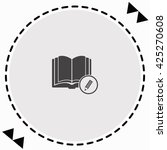 open book with a pensil icon... | Shutterstock .eps vector #425270608