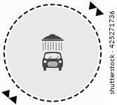 car wash. icon flat design....   Shutterstock .eps vector #425271736
