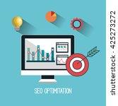 search engine optimization...   Shutterstock .eps vector #425273272