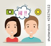social network design  | Shutterstock .eps vector #425274112