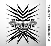 abstract crumpled  distorted... | Shutterstock . vector #425278462