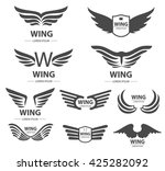 wings logo or design elements... | Shutterstock .eps vector #425282092