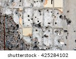 bullet holes in the wall | Shutterstock . vector #425284102