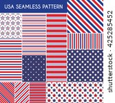 usa seamless patterns. vector... | Shutterstock .eps vector #425285452