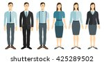 young businessman and... | Shutterstock .eps vector #425289502