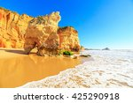 A View Of A Praia Da Rocha In...
