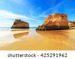 a view of a praia da rocha in... | Shutterstock . vector #425291962