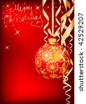 vector golden and red christmas ... | Shutterstock .eps vector #42529207