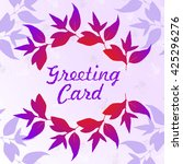 floral greeting card with... | Shutterstock .eps vector #425296276