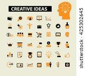 creative ideas icons  | Shutterstock .eps vector #425302645