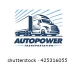 truck logo illustration on...