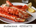 Red King Crab Legs With Lemon...