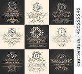decorative  ornament frames in... | Shutterstock .eps vector #425323342