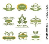 organic products  isolated... | Shutterstock .eps vector #425323528