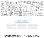 summer banners set for summer... | Shutterstock .eps vector #425324242
