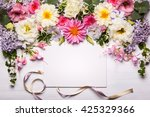festive flower composition with ... | Shutterstock . vector #425329366