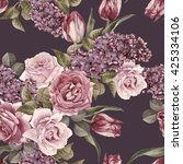 floral seamless pattern with... | Shutterstock . vector #425334106