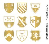 coat of arms silhouettes for... | Shutterstock .eps vector #425353672
