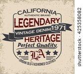 vintage typography emblem ... | Shutterstock .eps vector #425358082