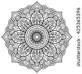 vector black and white mandala. ... | Shutterstock .eps vector #425365396