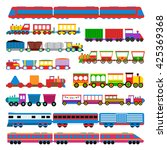 cartoon toy train with colorful ... | Shutterstock .eps vector #425369368