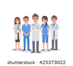 team of doctors and other... | Shutterstock .eps vector #425373022