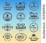 modern retro insignia for... | Shutterstock .eps vector #425383942