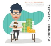 businessman  employee concept... | Shutterstock .eps vector #425391862