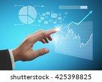 businessman with financial... | Shutterstock . vector #425398825