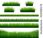green grass borders big set ... | Shutterstock .eps vector #425408176