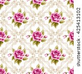 seamless pattern with hand... | Shutterstock . vector #425413102