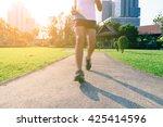motion blur of marathon man... | Shutterstock . vector #425414596