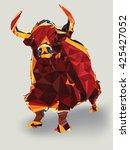 bull geometric  vector   Shutterstock .eps vector #425427052