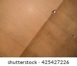 aerial view of tractor on... | Shutterstock . vector #425427226
