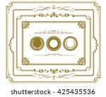frame set vector    Shutterstock .eps vector #425435536