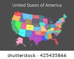 map of the usa. image with... | Shutterstock .eps vector #425435866