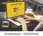 natural foods fresh healthy... | Shutterstock . vector #425439142